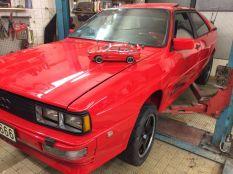Audi urquattro 1981 piros